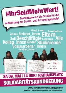 Plakat-Kundgebung
